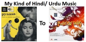 #MusicLog 3: Best Hindi/Urdu songs – From 50's till now…