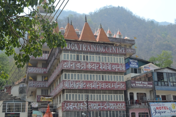 Temple and Yoga Training Center at Rishikesh