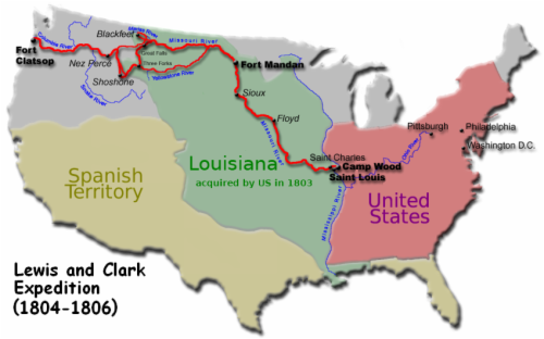 Lewis & Clark expedition (1804-1806)
