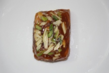Karachi Halwa from the China Ram Sindhi Confectioners, Chandani Chowk (https://plus.google.com/112546100845063437946/about?gl=in&hl=en)