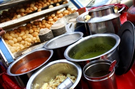 Golgappa - Atte wala is my favorite @ Gole Market in front of Bengali Bakery shop