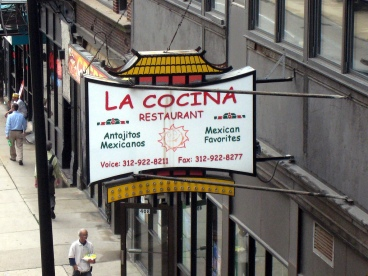 Maxican meal at La Cocina, Downtown Chicago, USA (http://lacocinamexicangrillchicago.com/)