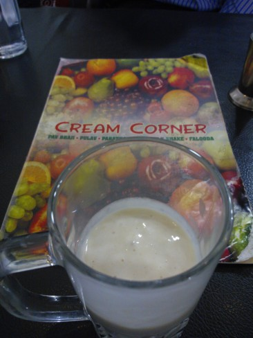Custard Apple Milkshake - It was truly yum at Cream Corner, MG Road, Pune