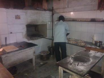 The traditional oven at Pizzaria, Varanasi