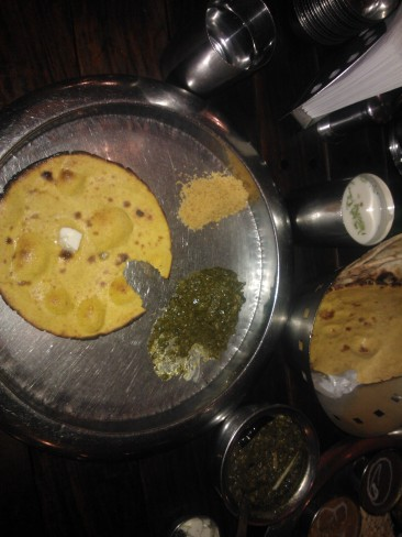 Saag and makke di roti at the Haveli...