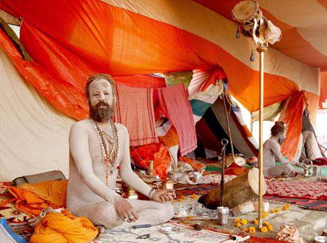 A Sadhu At Sangam Kumbh 2013