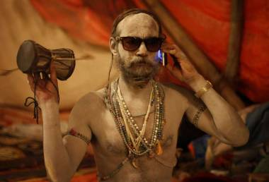 Cellphone Baba http://www.niticentral.com/2013/02/kumbh-mela-where-cellphones-meet-spirituality.html