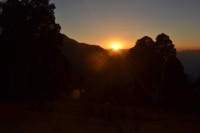 'Godhuli' 'Dusk' – The Beauty of Setting Sun in Himalayas : Uttarakhand