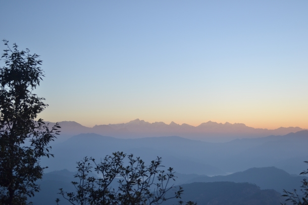 Smooth and beautiful layers of light over Himalayas - Pithoragarh, Uttarakhand