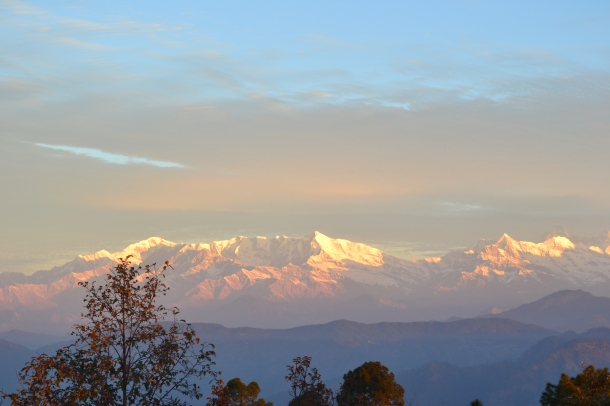 Nanda Devi Peaks in the morning (Nikon DSLR D3100), Pithoragarh, Uttarakhand