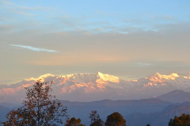 Nanda Devi Peaks in the morning (Nikon DSLR D3100), Pithoragarh, Uttarakhand