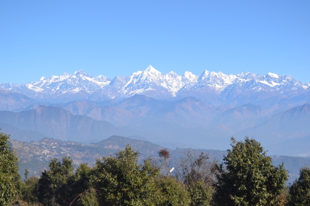 A view of Nanda Devi mountain peaks from Kumaon
