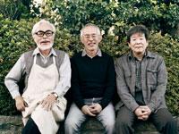 Hayao Miyazaki, Isao Takahata and Toshio Suzuki