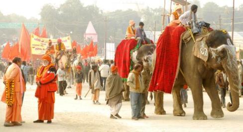 Maha Kumbh 2013 Elephant Parade