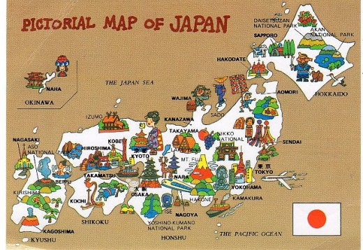 Pictorial Map of Japan