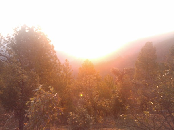 Sunrise at Misty Mountain, Jhaltola, Pithoragarh, Uttarakhand