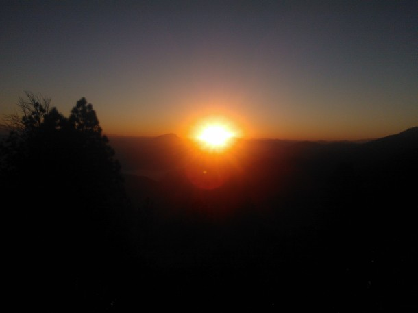 Rising Sun at Jhaltola, Pithoragarh, Uttarakhand
