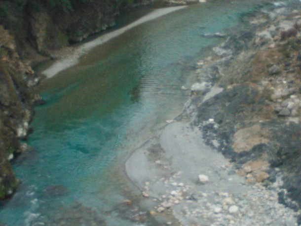 Crystal clear water of Ram Ganga river at Thal, Pithoragarh, Uttarakhand