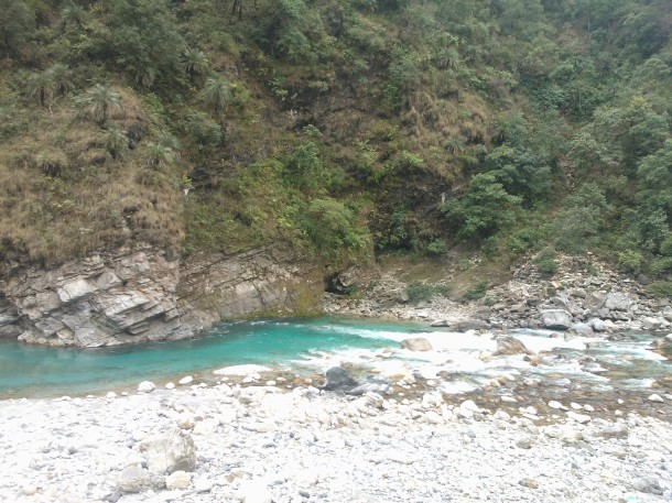 Landscape designed by the nature herself, the Ramganga river at Thal, Pithoragarh, Uttarakhand