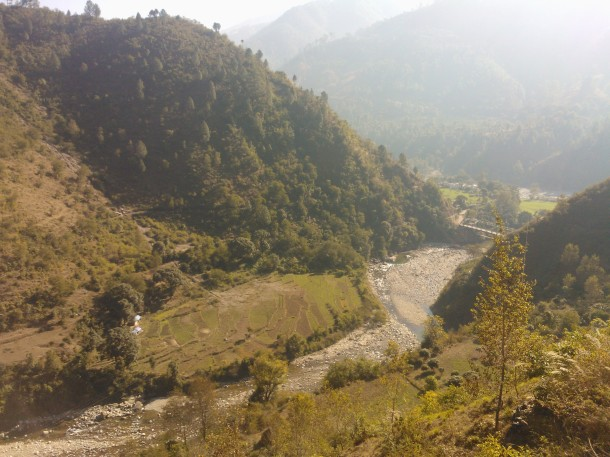 Kulur river on the way to Almorah from Pithoragarh, Uttarakhand