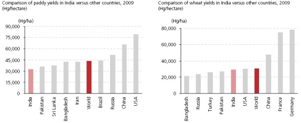 Yield per hectare India Vs rest of the world