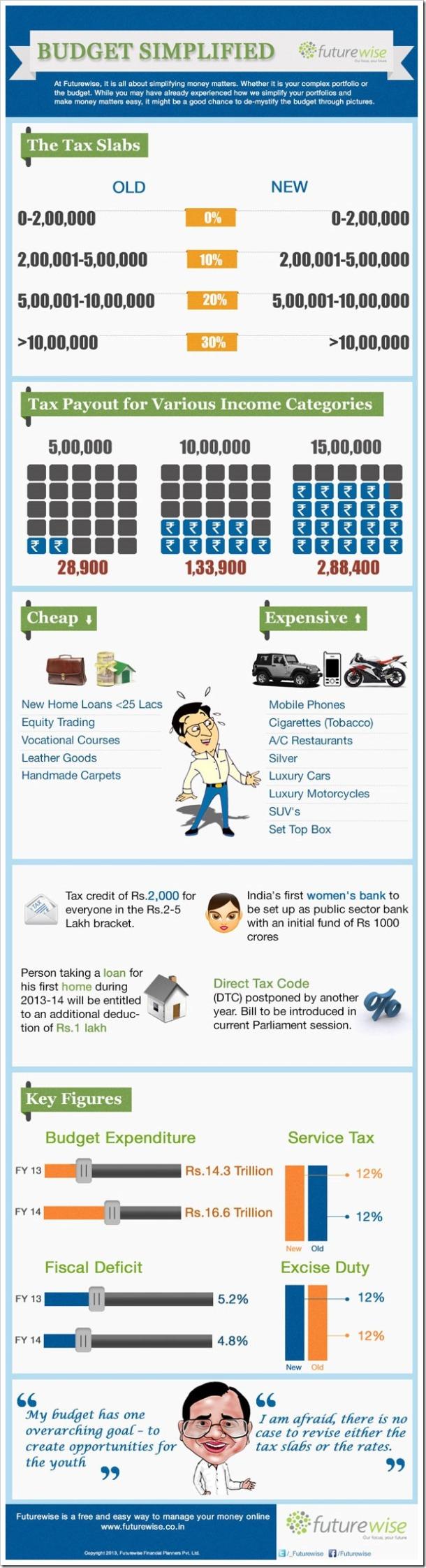 Budget 2013 Infographic