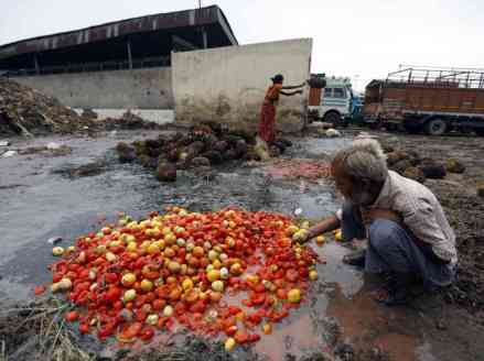 fooddump outside wholesale Agriculture produce market in India