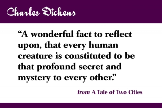 Charles Dickens's tale of two cities
