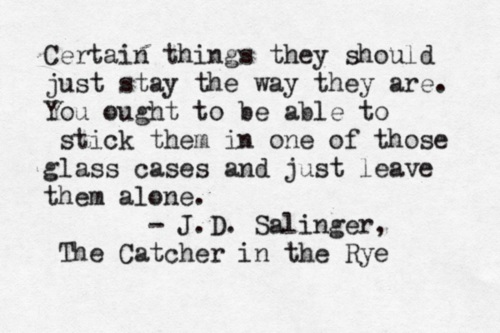 an analysis of catcher in the rye by j d salinger Chapter summary for j d salinger's the catcher in the rye, chapter 2 summary find a summary of this and each chapter of the catcher in the rye.