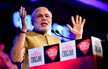 Narendra Modi at India Today conclave 2013