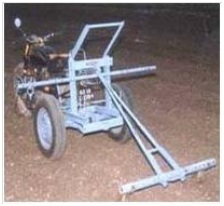 Motorcyle driven plough