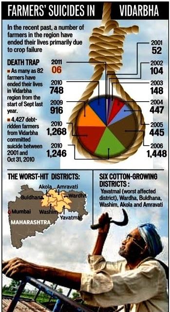 Farmer's suicide in Mahrashtra - India