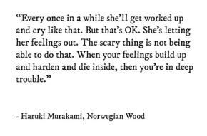 DailyBookQuote 6Jul13 : Haruki Murakami's NorwegianWood