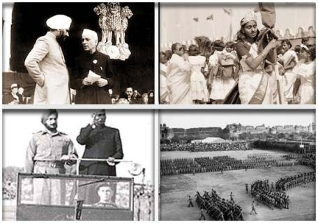 1950, 26th January Republic Day - India adopts new democratic constitution