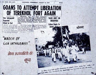 1961 India liberates Goa, Daman & Diu from Portuguese colonial rule