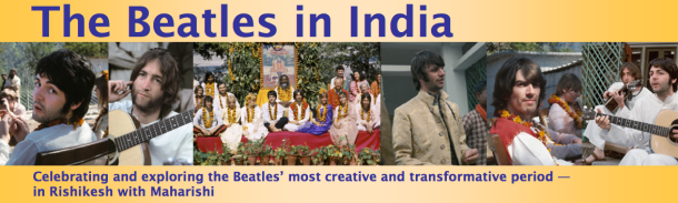 1968 The Beatles, Mia Farrow and several other celebrities visit Rishikesh, India
