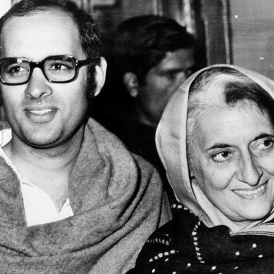 1980 Sanjay Gandhi, son of Indian Prime Minister Indira Gandhi dies in a mysterious plane crash
