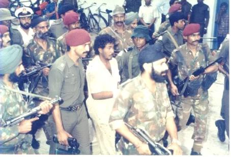 1988 Operation Cactus by India to intervene in Maldives coup d'état