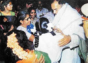 1991  Assassination of Rajiv Gandhi - By a LTTE Suicide Bomber in Sriperumbudur near Chennai in Tamil Nadu during the election campaign.