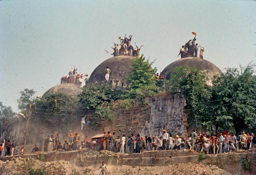 1992 Demolition of Babri Mosque by Hindu mob. A temple on the site of Lord Ram's birth place was converted into mosque by muslim invaders