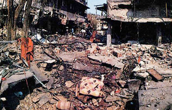 1993 Bombay bombings by muslim terrorist