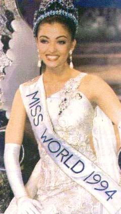1994 Aishwarya Rai was crowned Miss World 1994 in Sun City, South Africa