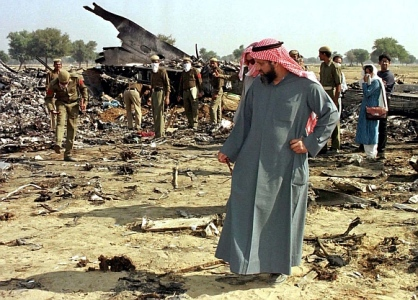 1996 A Saudi Arabian Boeing 747 jumbo jet and a Kazakhstan Ilyushin cargo plane collide near Charkhi Dadri, killing 349 people in the world's deadliest mid-air collision.