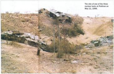 1998 India conducts 3 underground nuclear tests in Pokhran, including 1 thermonuclear device