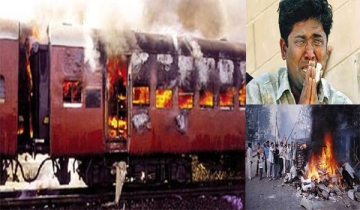 2002  Series of riots leaves hundreds dead, after 59 Hindu pilgrims die aboard a train burned by a Muslim mob in Godhra, Gujarat