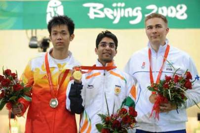 2008 1st Individual Olympic Gold by an Indian Abhinav Bindra