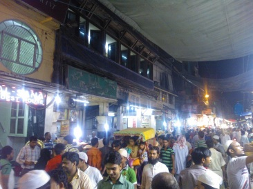 The street outside Karim's Restaurant, Old Delhi