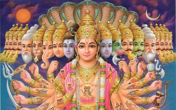 Lord Vishnu and his 10 Avatars