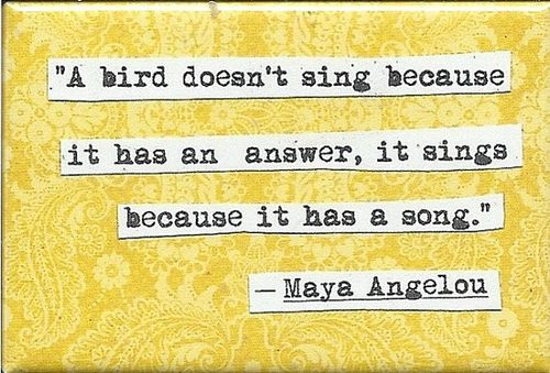 an essay on the autobiography i know why the caged bird sings by maya angelou Maya angelou showed how to (posing with i know why the caged bird sings) m aya angelou published her iconic autobiography, i know why the caged bird.