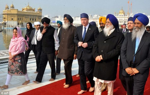David Cameron in Golden Temple